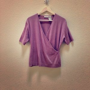 White Stag mauve short sleeve sweater top